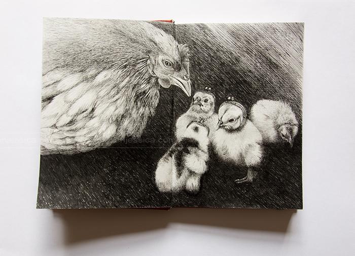 La poule aux oeufs d'or - Feutre - Carnet