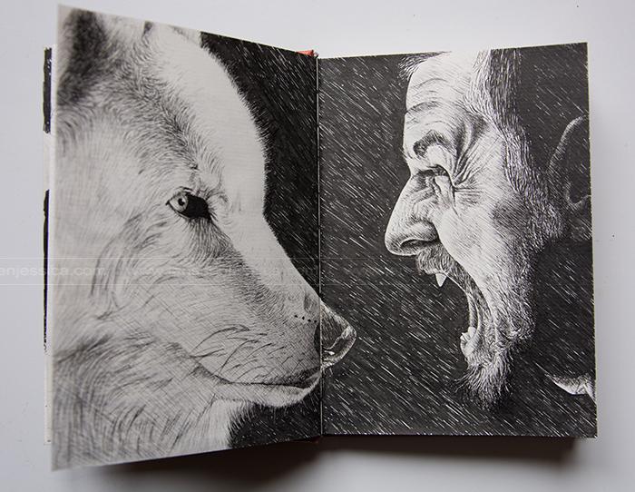 L'homme et l'animal - Feutre - Carnet